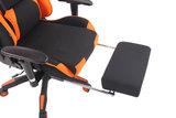 Gaming Stoel Lorenzo XFM Oranje Stof met Voetsteun en Massagefunctie_