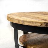 Salontafel Balder hout 70x35 cm massief mangohout_