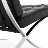 Barcelona Chair Splitleder Zwart_