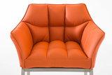 Barkruk Damaso Kunstleer Oranje,Metaal_