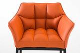 Barkruk Damaso Kunstleer Oranje,Zwart_