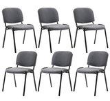 Kin set van 6 bezoekersstoelen Grijs_