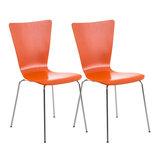 2x bezoekersstoelen Oaran Oranje_