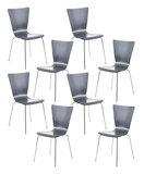 8x bezoekersstoel Oaran Grijs_