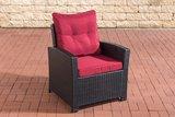 PolyRoodan fauteuil Fosoli Zwart,rubinRood_