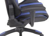 Bureaustoel Kona Zwart/Blauw_