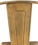 Set van 4 Binedekt stoelen gold, _