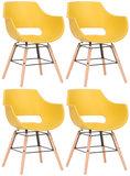 Set van 4 stoelen Skein Geel,natura_
