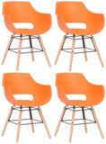 Set van 4 stoelen Skein Oranje,natura_