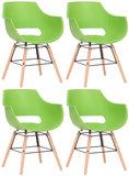 Set van 4 stoelen Skein Groen,natura_