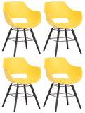 Set van 4 stoelen Skein Geel,Zwart_