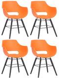Set van 4 stoelen Skein Oranje,Zwart_