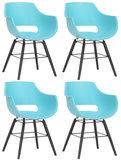 Set van 4 stoelen Skein Blauw,Zwart_