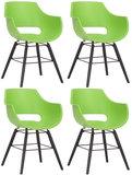 Set van 4 stoelen Skein Groen,Zwart_
