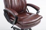 Bureaustoel Ela Bordeaux Rood-Ideaal voor lange en zware personen_