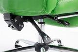 Bureaustoel Lune Groen met voetsteun_