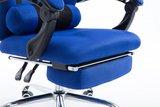 Bureaustoel met voetsteun Annemijn Blauw_