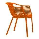 Tuinstoel Nikki Oranje (kunststof - stapelbaar - kleurrijk) _