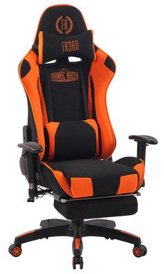 Gaming Stoel Lorenzo XFM Oranje Stof met Voetsteun