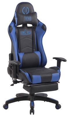 Gaming Stoel Lorenzo XFM Blauw met Voetsteun en Massagefunctie