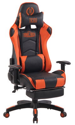 Gaming Stoel Lorenzo XFM Oranje met Voetsteun