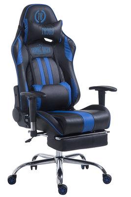 Gaming Stoel Rico V2 Blauw met Voetsteun