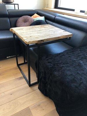 bijzettafel, koffietafel Dutch-Harmpie Elmwood EXCLUSIEF | 100% Made in NL | Industrial look | Zwart Metaal