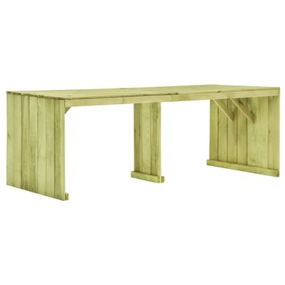 Tuintafel 220x101,5x80 cm geïmpregneerd grenenhout