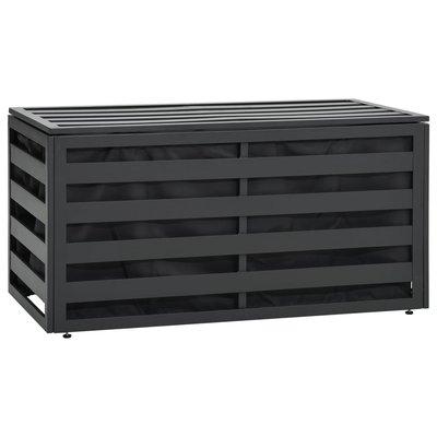 Tuinbox 100x50x50 cm aluminum antraciet