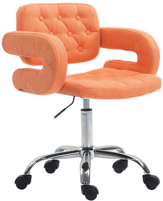 Bureaustoel Jorinde Stof Oranje