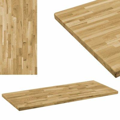 Tafelblad rechthoekig 44 mm 120x60 cm massief eikenhout