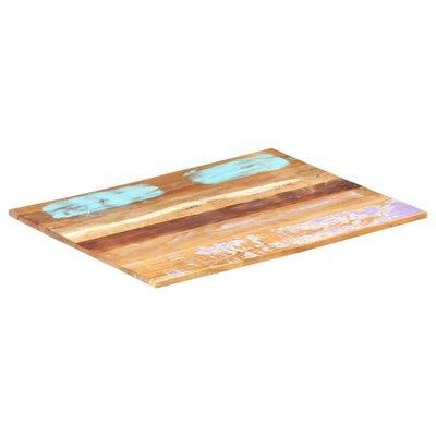 Tafelblad rechthoekig 15-16 mm 60x70 cm massief gerecycled hout
