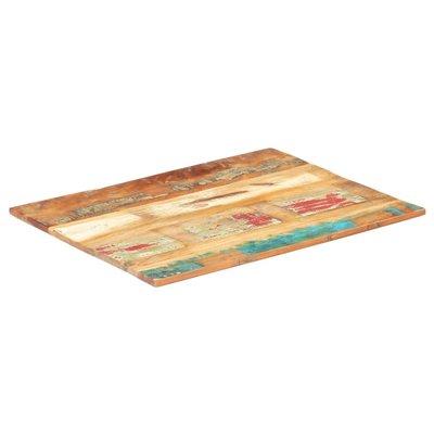 Tafelblad rechthoekig 15-16 mm 70x80 cm massief gerecycled hout
