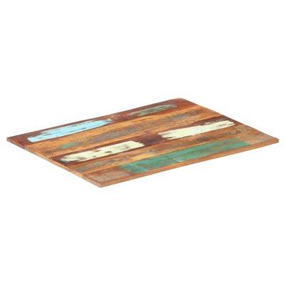 Tafelblad rechthoekig 15-16 mm 70x90 cm massief gerecycled hout