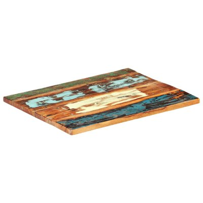 Tafelblad rechthoekig 25-27 mm 70x80 cm massief gerecycled hout