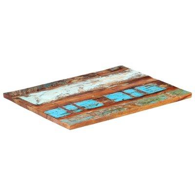Tafelblad rechthoekig 25-27 mm 70x90 cm massief gerecycled hout