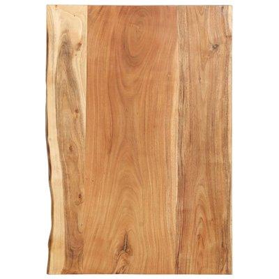 Wastafelblad 80x55x3,8 cm massief acaciahout
