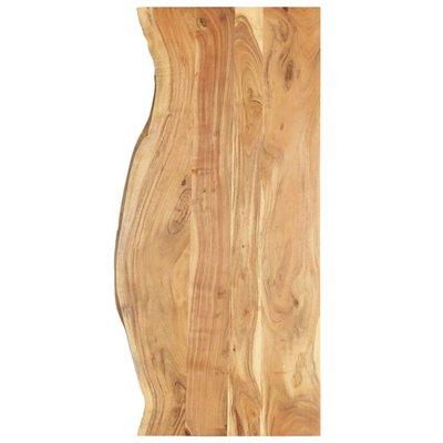 Wastafelblad 140x55x2,5 cm massief acaciahout