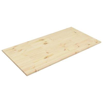 Tafelblad rechthoekig 100x60x2,5 cm natuurlijk grenenhout