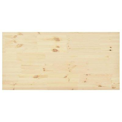 Tafelblad rechthoekig 140x70x2,5 cm natuurlijk grenenhout