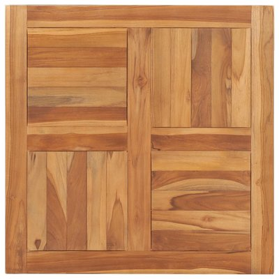 Tafelblad 70x70x2,5 cm massief teakhout