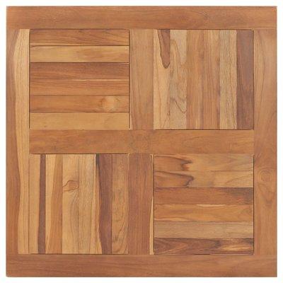 Tafelblad vierkant 80x80x2,5 cm massief teakhout