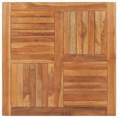 Tafelblad vierkant 90x90x2,5 cm massief teakhout