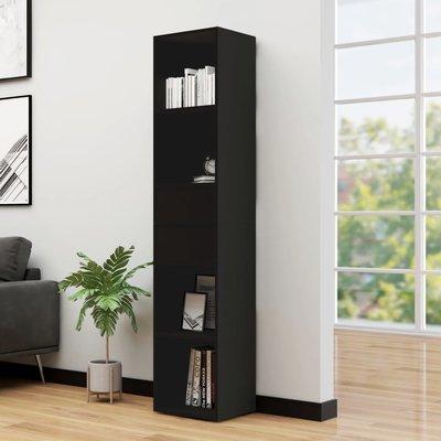 Boekenkast 36x30x171 cm spaanplaat zwart