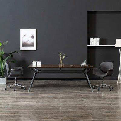 Kantoorstoel draaibaar stof grijs