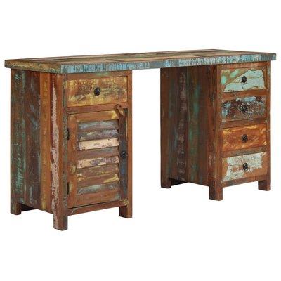 Bureau 140x50x77 cm massief gerecycled hout