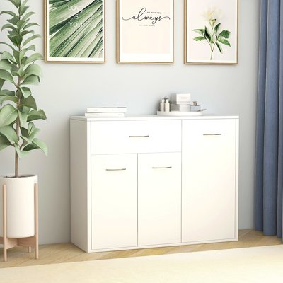 Dressoir 88x30x70 cm spaanplaat wit