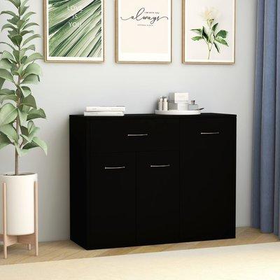 Dressoir 88x30x70 cm spaanplaat zwart