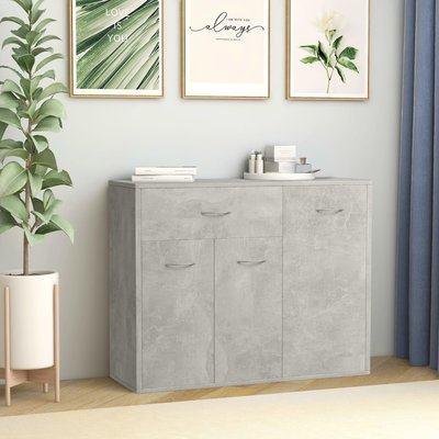 Dressoir 88x30x70 cm spaanplaat betongrijs