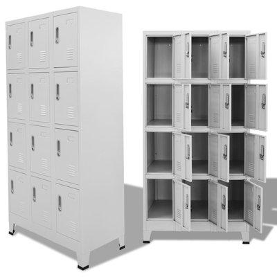 Lockerkast met 12 compartimenten 90x45x180 cm